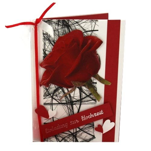 einladungskarte zur hochzeit in rot tafeldeko. Black Bedroom Furniture Sets. Home Design Ideas