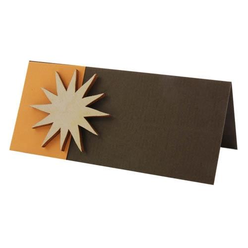 Tischkarte Geburtstag in Apricot/Braun Bild 1
