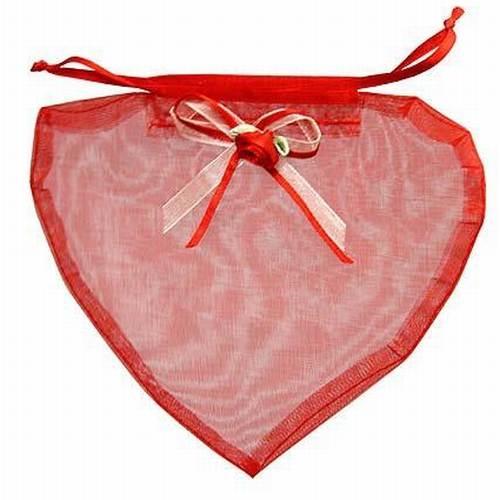 Organzabeutel In Herzform In Rot Ebay