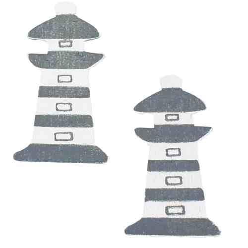 12er pack kommunion leuchtturm aus holz ebay. Black Bedroom Furniture Sets. Home Design Ideas