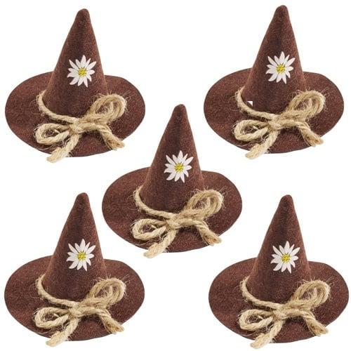 5er pack bayrischer trachtenhut aus filz 60 mm ebay for Tafel deko