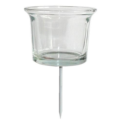 4er Set Teelichtgläser mit Dorn für Adventskranz oder Gestecke | eBay