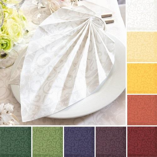 50er pack servietten duni sarala 40 x 40 in 11 farben for Duni servietten weihnachten