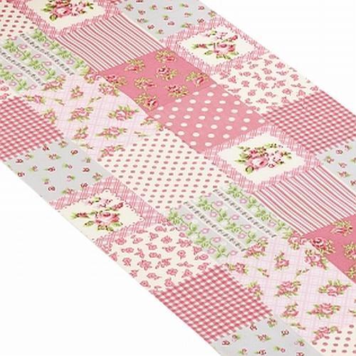 10 meter stoff tischl ufer patchwork in rosa bild 1. Black Bedroom Furniture Sets. Home Design Ideas