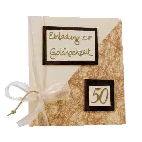 einladungskarte goldene hochzeit tisch 4 champagner dune. Black Bedroom Furniture Sets. Home Design Ideas
