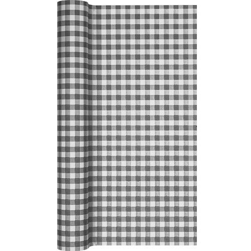 5 meter tischl ufer karo grau 40 cm. Black Bedroom Furniture Sets. Home Design Ideas