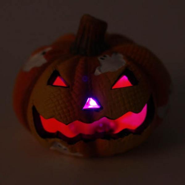 Keramik Halloween Kurbis Gesicht Mit Bunter Led Beleuchtung Nr 1 Tafeldeko De