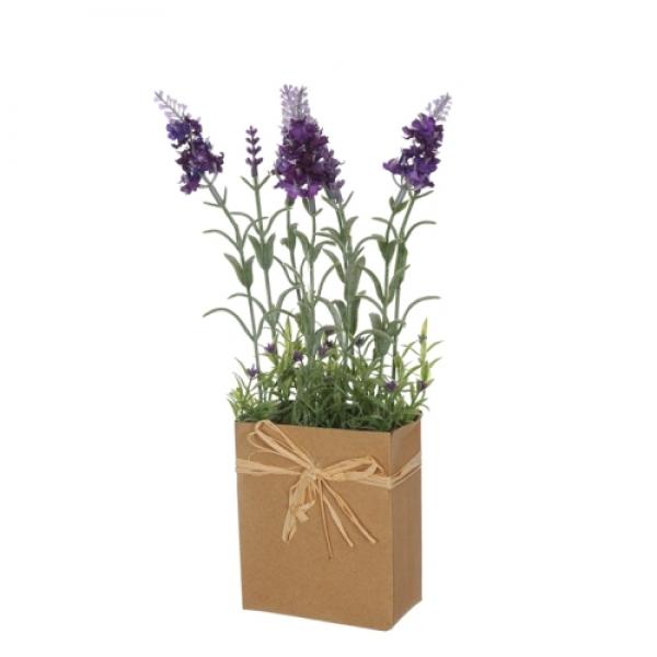 Kunstblume Lavendel Im Papier Topfchen Mediterrane Deko Zum