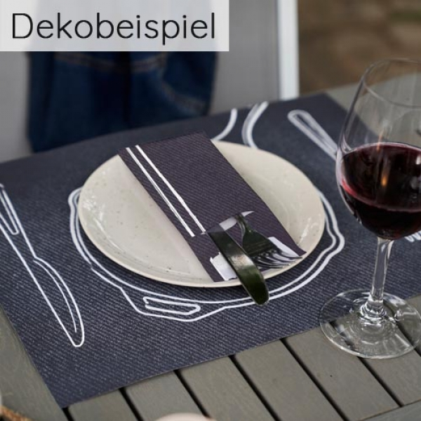 Dekobeispiel Duni Serie Plate It Black.