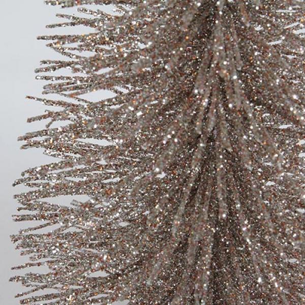 Weihnachtsdeko glitzer tannenbaum in silber rosa 22 cm - Rosa tannenbaum ...