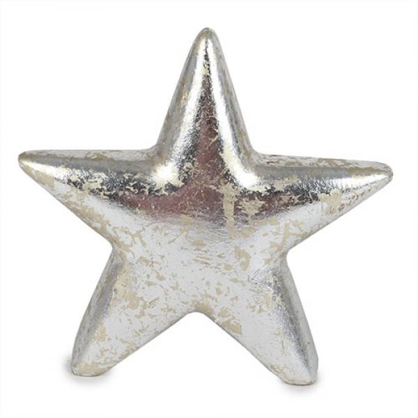 Stern Weihnachten.Keramik Stern Weihnachten In Antik Silber 11 Cm