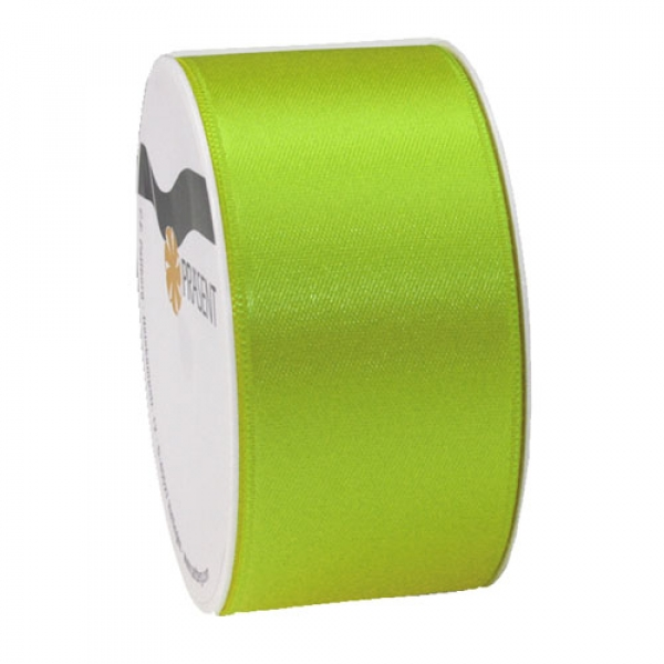 5 Meter Satin Band, schmal, in Kiwi, 40 mm.