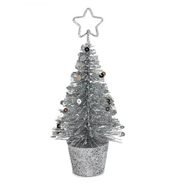 deko glitzer weihnachtsbaum mit pailletten und stern in. Black Bedroom Furniture Sets. Home Design Ideas