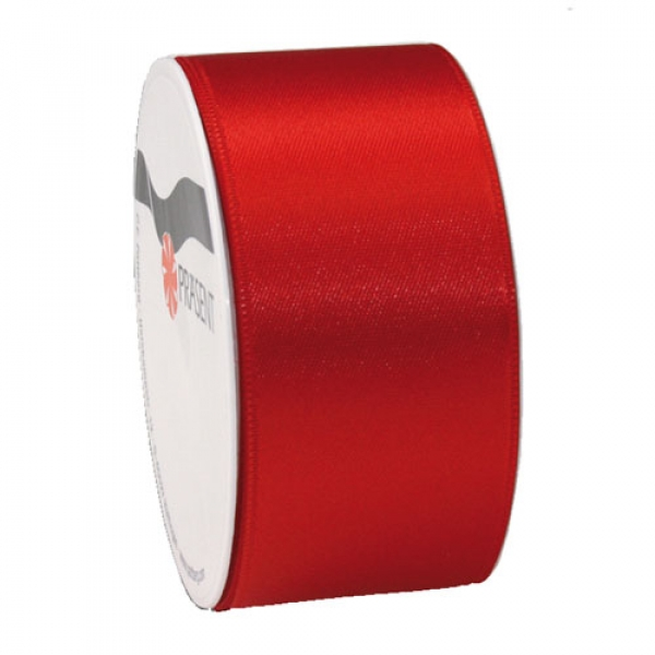 5 Meter Satin Band, schmal, in Rot, 40 mm.