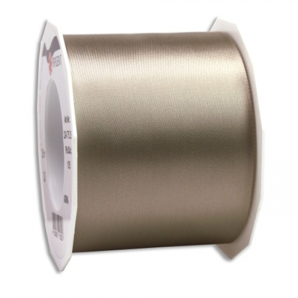 25 Meter Satin Tischband Adria in Taupe, 70 mm.