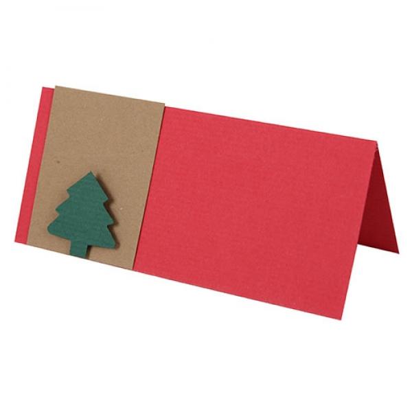 tischkarte weihnachten tannenbaum. Black Bedroom Furniture Sets. Home Design Ideas