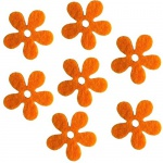 15 Filzblumen in Orange