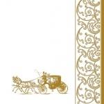 20er Pack Servietten Hochzeitskutsche 33 x 33 cm