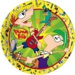 10er Pack Teller Phineas & Ferb 23 cm