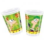 10er Pack Becher Phineas & Ferb