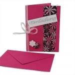 Einladungskarte Geburtstag in Pink/Schwarz