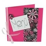 Menükarte Geburtstag in Pink/Schwarz