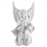 Engel in Weiß mit Glitzerkreuzanhänger