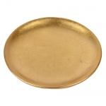 Keramik Kerzenteller in Gold, 16 cm