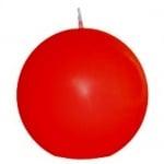 Kugelkerze matt in Rot, 80 mm