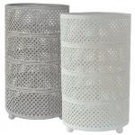 Duni Metall Kerzenhalter Stella in Weiß oder Grau, 20 cm