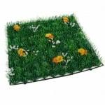 Grasmatte mit Margeritenblüten, 25 cm
