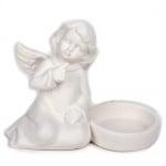 Keramik Teelichthalter Engel