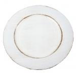 Platzteller in Weiß, 33 cm
