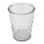 Glas Vase Windlicht mit Punkten, 13 cm