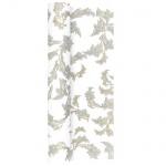 4,9 Meter Airlaid Papier Tischläufer Ornamentmotiv in Gold/Silber, 40 cm