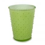 Kerzenglas mit Noppenoptik in Grün Pastell