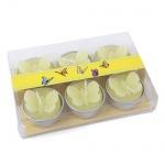 6er Pack Teelichter Schmetterling in Gelb