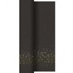 10 Meter Duni Dunicel Tischdeckenrolle New Year Black
