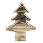 Keramik Tannenbaum in Gold/Grau, 17 cm