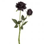 Kunstblume Trauer Rose in Schwarz, 50 cm