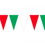 4 Meter Wimpelkette Italien in Grün/Weiß/Rot, wetterfest