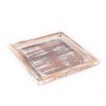 Holztablett, Gesteckunterlage quadratisch, 15 cm