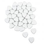 Glas Herzen in Weiß, glänzend