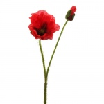 Kunstblume Mohn mit Knospe, 44 cm