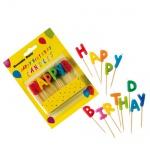 13er Pack Buchstabenkerzen Happy Birthday, bunt