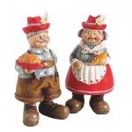 2er Set bayrische Deko Figuren Oma und Opa, 95 mm