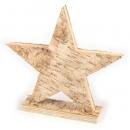 Großer Stern aus Birkenholz, 20 cm