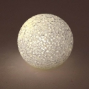 LED Licht-Kugel in Schneeball-Kristalloptik, kabellos, 75 mm