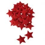 24 Filz Sterne in Rot, 50 mm