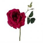 Kunstblume Rose in Beere, 22 cm